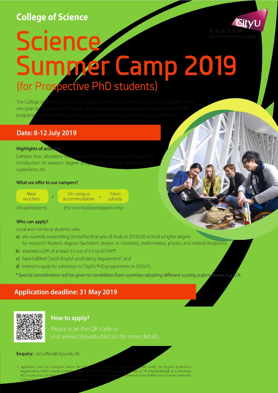 Poster CityU Science Summer Camp 2019